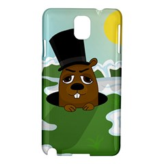 Groundhog Samsung Galaxy Note 3 N9005 Hardshell Case by Valentinaart