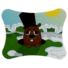 Groundhog Jigsaw Puzzle Photo Stand (bow) by Valentinaart