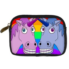 Unicorn Love Digital Camera Cases by Valentinaart