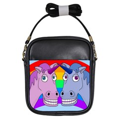 Unicorn Love Girls Sling Bags