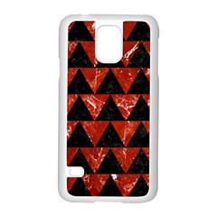 Triangle2 Black Marble & Red Marble Samsung Galaxy S5 Case (white) by trendistuff