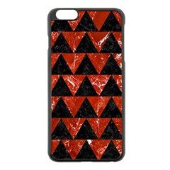 Triangle2 Black Marble & Red Marble Apple Iphone 6 Plus/6s Plus Black Enamel Case