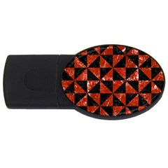 Triangle1 Black Marble & Red Marble Usb Flash Drive Oval (2 Gb) by trendistuff