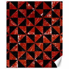 Triangle1 Black Marble & Red Marble Canvas 8  X 10  by trendistuff