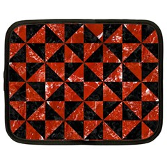 Triangle1 Black Marble & Red Marble Netbook Case (large) by trendistuff