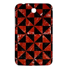 Triangle1 Black Marble & Red Marble Samsung Galaxy Tab 3 (7 ) P3200 Hardshell Case
