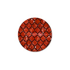 Tile1 Black Marble & Red Marble (r) Golf Ball Marker
