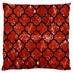 Tile1 Black Marble & Red Marble (r) Large Flano Cushion Case (one Side) by trendistuff