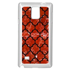 Tile1 Black Marble & Red Marble (r) Samsung Galaxy Note 4 Case (white) by trendistuff