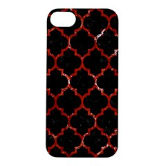 Tile1 Black Marble & Red Marble Apple Iphone 5s/ Se Hardshell Case by trendistuff