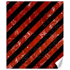 Stripes3 Black Marble & Red Marble Canvas 20  X 24  by trendistuff