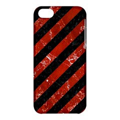 Stripes3 Black Marble & Red Marble Apple Iphone 5c Hardshell Case by trendistuff