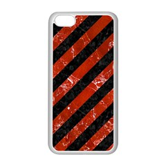 Stripes3 Black Marble & Red Marble Apple Iphone 5c Seamless Case (white) by trendistuff