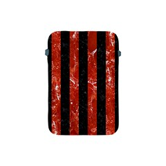 Stripes1 Black Marble & Red Marble Apple Ipad Mini Protective Soft Case by trendistuff