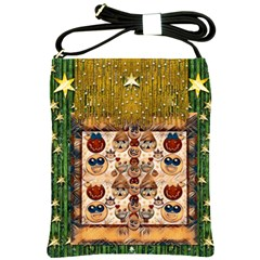 Festive Cartoons In Star Fall Shoulder Sling Bags by pepitasart