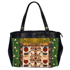 Festive Cartoons In Star Fall Office Handbags (2 Sides)  by pepitasart