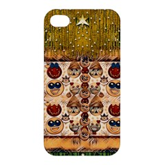 Festive Cartoons In Star Fall Apple Iphone 4/4s Hardshell Case by pepitasart