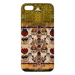 Festive Cartoons In Star Fall Apple Iphone 5 Premium Hardshell Case by pepitasart