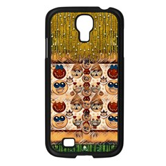 Festive Cartoons In Star Fall Samsung Galaxy S4 I9500/ I9505 Case (black) by pepitasart