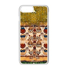 Festive Cartoons In Star Fall Apple Iphone 7 Plus White Seamless Case by pepitasart