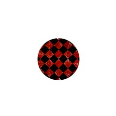 Square2 Black Marble & Red Marble 1  Mini Button by trendistuff