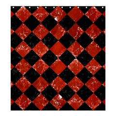 Square2 Black Marble & Red Marble Shower Curtain 66  X 72  (large) by trendistuff