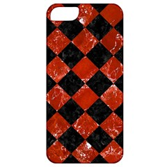 Square2 Black Marble & Red Marble Apple Iphone 5 Classic Hardshell Case by trendistuff