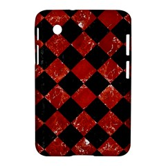 Square2 Black Marble & Red Marble Samsung Galaxy Tab 2 (7 ) P3100 Hardshell Case  by trendistuff