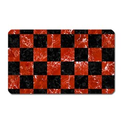Square1 Black Marble & Red Marble Magnet (rectangular) by trendistuff