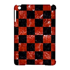Square1 Black Marble & Red Marble Apple Ipad Mini Hardshell Case (compatible With Smart Cover) by trendistuff