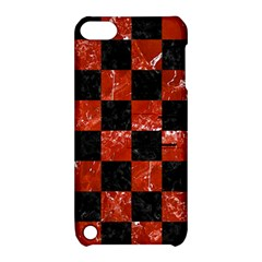 Square1 Black Marble & Red Marble Apple Ipod Touch 5 Hardshell Case With Stand