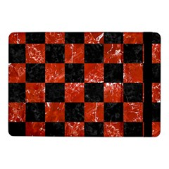 Square1 Black Marble & Red Marble Samsung Galaxy Tab Pro 10 1  Flip Case by trendistuff
