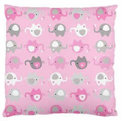 Animals Elephant Pink Cute Standard Flano Cushion Case (two Sides) by Jojostore