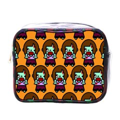 Zombie Woman Fill Orange Mini Toiletries Bags