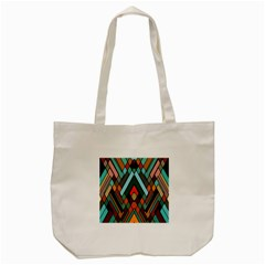 Abstract Mosaic Color Box Tote Bag (cream) by Jojostore
