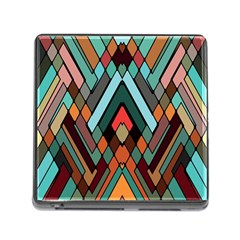 Abstract Mosaic Color Box Memory Card Reader (square) by Jojostore