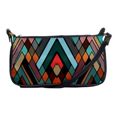 Abstract Mosaic Color Box Shoulder Clutch Bags by Jojostore