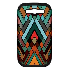 Abstract Mosaic Color Box Samsung Galaxy S Iii Hardshell Case (pc+silicone)