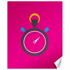 Alarm Clock Houre Canvas 16  X 20   by Jojostore