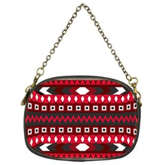 Asterey Red Pattern Chain Purses (two Sides)