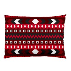 Asterey Red Pattern Pillow Case