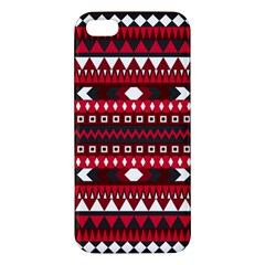 Asterey Red Pattern Apple Iphone 5 Premium Hardshell Case by Jojostore