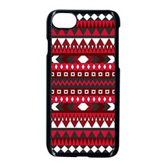 Asterey Red Pattern Apple Iphone 7 Seamless Case (black) by Jojostore