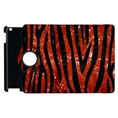 Skin4 Black Marble & Red Marble Apple Ipad 3/4 Flip 360 Case by trendistuff