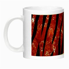 Skin3 Black Marble & Red Marble (r) Night Luminous Mug by trendistuff
