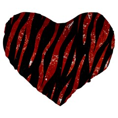 Skin3 Black Marble & Red Marble Large 19  Premium Heart Shape Cushion by trendistuff