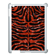 Skin2 Black Marble & Red Marble Apple Ipad 3/4 Case (white) by trendistuff