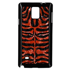 Skin2 Black Marble & Red Marble Samsung Galaxy Note 4 Case (black) by trendistuff