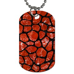 Skin1 Black Marble & Red Marble Dog Tag (two Sides) by trendistuff