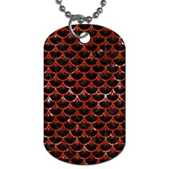 Scales3 Black Marble & Red Marble Dog Tag (one Side)